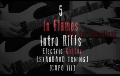 5 in flames guitar intros lesson