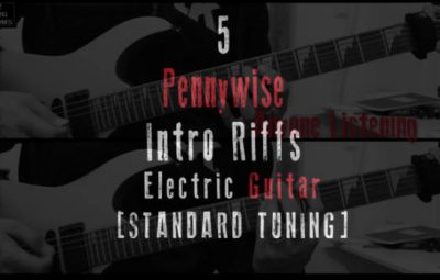 5 pennywise intro guitar riffs lesson