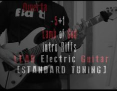 5+1 lamb of god lead intro riffs guitar lesson