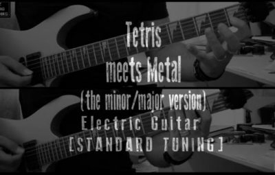 tetris meets metal guitar cover lesson